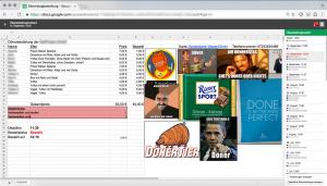Dönerstag-Bestelltabelle in Google Drive mit voller Änderungskontrolle